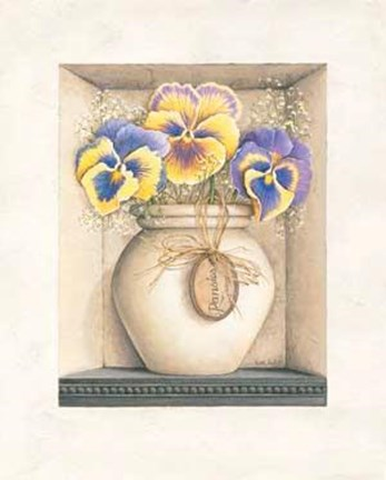 Framed Pansies Print
