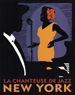 La Chanteuse de Jazz  Fine Art Print