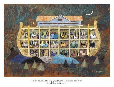Framed Story of Noah's Ark Print
