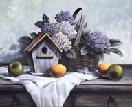 Birdhouse, Hydrangea, Apple  Fine Art Print