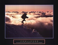 Challenge - Skier In Clouds