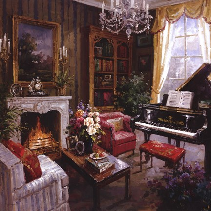 Framed Grand Piano Room Print