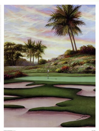 Framed #8 Bunkers At Emerald Dunes Print
