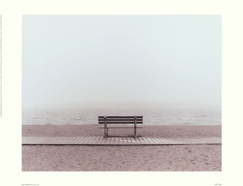 Framed Bench: Westport, CT Print