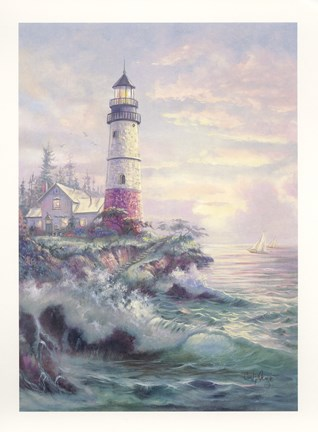 Framed Lighthouse Cove Print