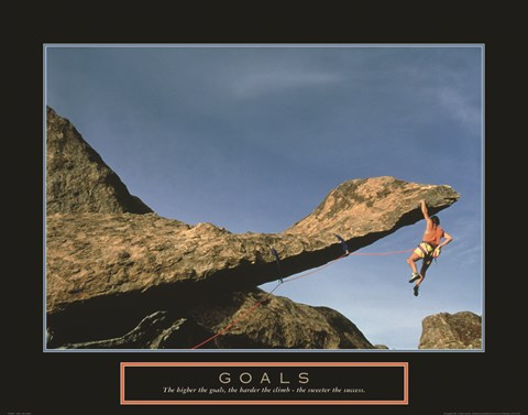 Framed Goals - Rock Climber Print