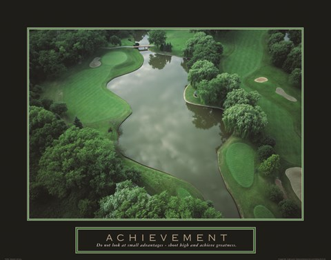 Framed Achievement - Golf Course Print