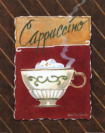 Framed Cup of Cappuccino Print