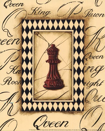 Framed Chess Queen - Mini Print