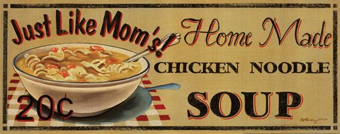 Framed Chicken Noodle Soup Print