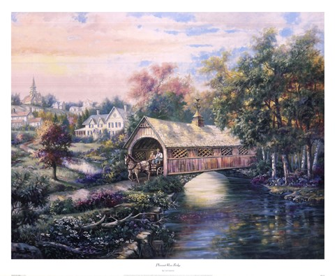 Framed Pheasant River Bridge Print