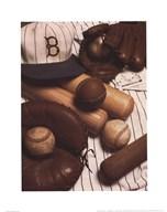 Vintage Baseball (Sepia) Art