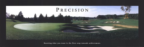 Framed Precision - Golf Print