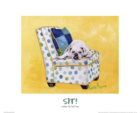 Framed Sidney The Bull Dog (Polka Dot) Print