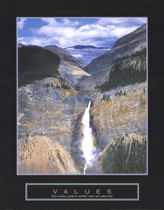 Framed Values - Takakkaw Falls Print