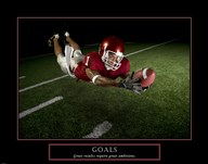 Goals - Football Action  Fine Art Print