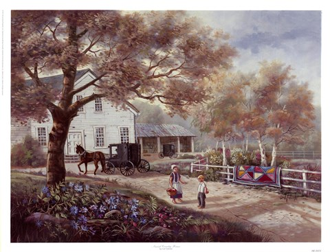 Framed Amish Country Home Print