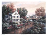 Vintage Island Home  Fine Art Print