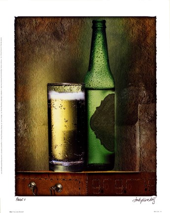 Framed Beer 1 Print