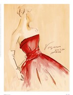 Red Dress I  Fine Art Print