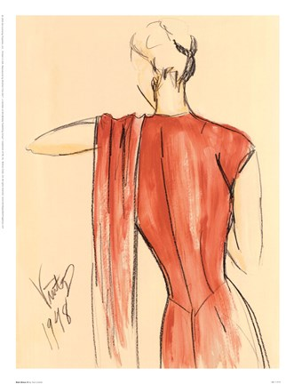 Framed Red Dress II Print