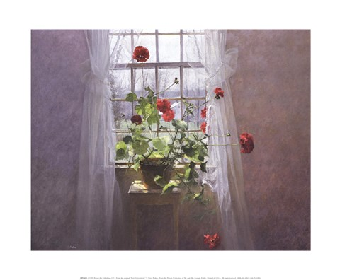 Framed Red Geraniums (Small) Print