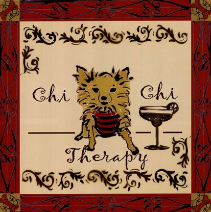Framed Chi Chi Therapy! Print