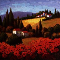 Tuscan Poppies Art