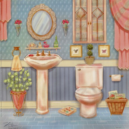 Framed Powder Room IV Print
