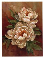 White Peonies I Art
