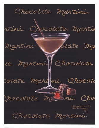 Framed Chocolate Martini Print
