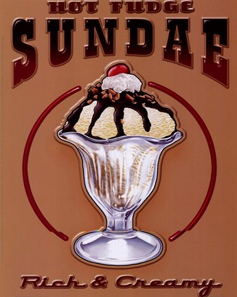 Framed Hot Fudge Sundae Print