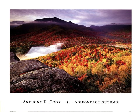 Framed Adirondack Autumn Print