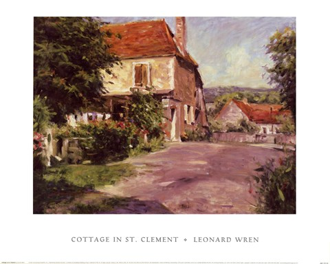 Framed Cottage In St. Clement Print