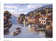 Village On The Water  Fine Art Print