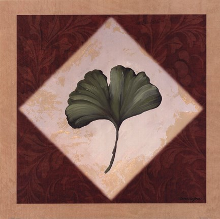 Framed Diamond Leaves II Print