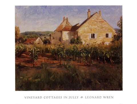 Framed Vineyard Cottages In Jully Print