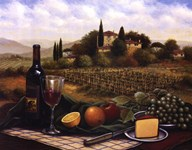Terrace At Chianti  Fine Art Print