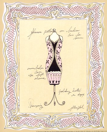 Framed Dress Form III Print