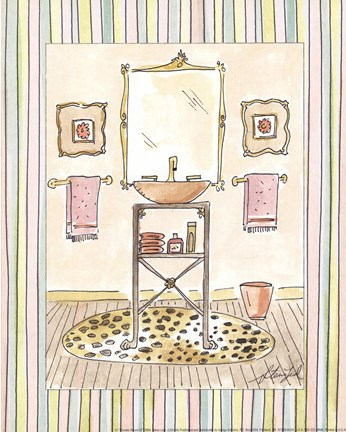 Framed Powder Room III Print