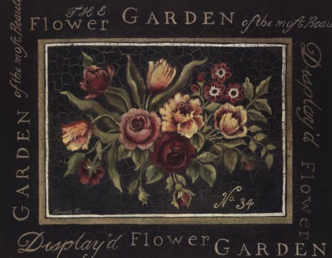 Framed Flower Garden No 34 Print