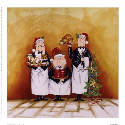 Framed Christmas Waiters Print