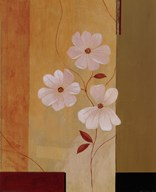 Three White Flowers I Art