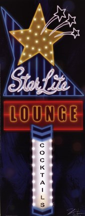 Framed Star Lite Lounge Print