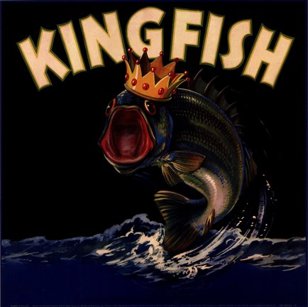 Framed Kingfish Print