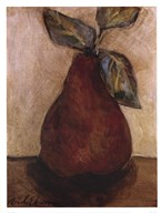 Red Pear On Beige