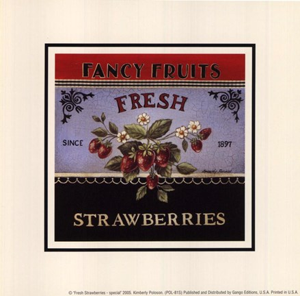 Framed Fresh Strawberries - Special Print