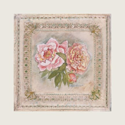 Framed Victorian Panel-Peonies Print