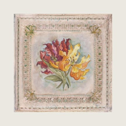 Framed Victorian Panel-Lilies Print