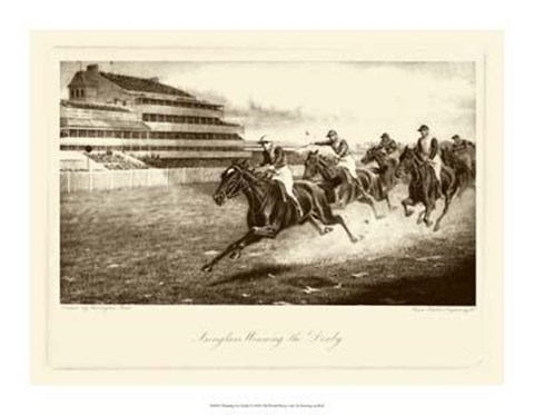 Framed Winning The Derby Print